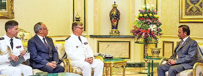 "Visit by Rear-Admiral Denis Bertrand, ""French Pacific Commander""."
